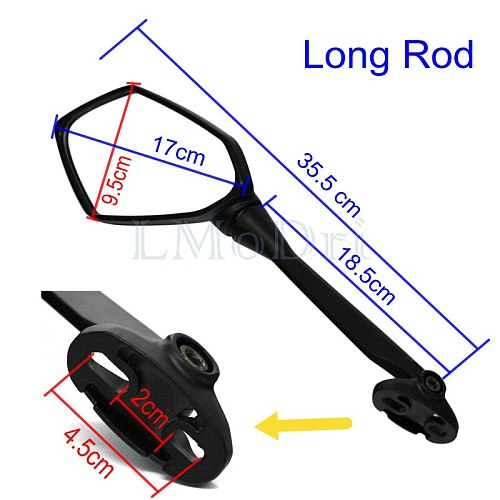 LMoDri Motorcycle Mirrors Sport Bike Scooter Rear View Mirror For Honda CBR F4 HYOSUNG GT Kawasaki Ninja Replacement For Racing