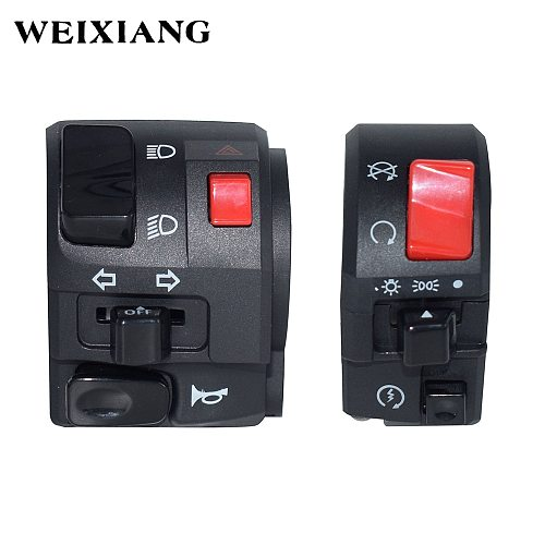 7/8  22mm Motorcycle Switches Motorbike Horn Button Turn Signal Electric Fog Lamp Light Start Handlebar Controller Switch