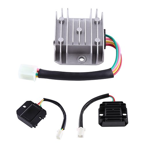 Universal Motorcycle Voltage Stabilizer Voltage Regulator Current Rectifier ATV Scooter 4 Wires 4 Pins 12V AVR Autostabilizer