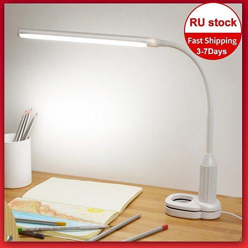 5W 24 LEDs Eye Protect Table Lamp Stepless Dimmable Bendable USB Powered Touch Sensor Control LED Desk Lamp настольная лампа