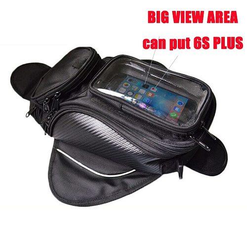 Motorcycle tank bag Oil Fuel Bag Magnetic moto saddle luggage GPS Phone Bag Bigger Window suitcase For iphone Samsung