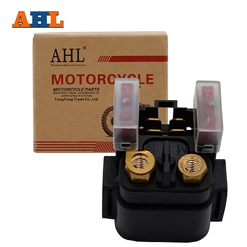AHL Motorcycle GE Parts Starter Solenoid Relay ignition Key Switch For Yamaha YZFR1YZFR6 YFZ450 YFM450 Grizzly 450 660 XV1600