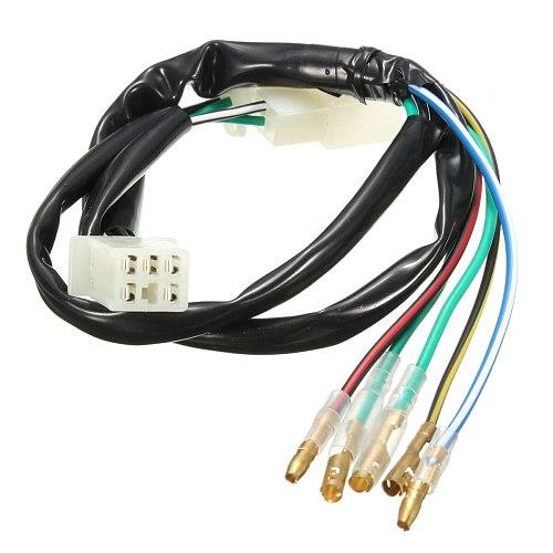 5pcs/set Wiring Loom Kill Switch Coil CDI Plug Kit 2Pin For 110cc 125cc 140cc Pit Bikeset Dirt Bike ATV