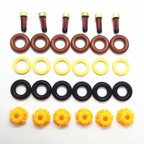 6sets Fuel Injector Repair Kit 0280150440 13641703819 For BMW E60 E39 520i 523i 525i 528i E36 328i  E36 car replacement AY-RK004