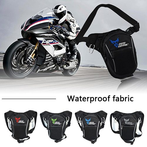 Moto Fashion Motorcycle Drop Leg Bag Waterproof Motorcycle Bags Outdoor Riding Running Sport side bag Waist Bag Motorbike Bag
