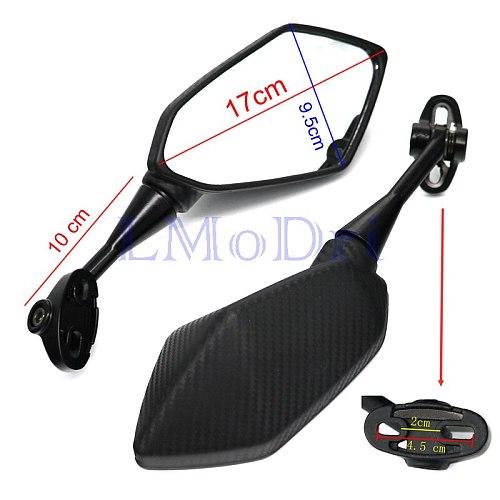 LMoDri Motorcycle Mirrors Racing Sport Bike Rear View Mirror For Honda CBR F4 F4i/RC51/ RVT1000 DD250E/300/350 HYOSUNG GT Carbon