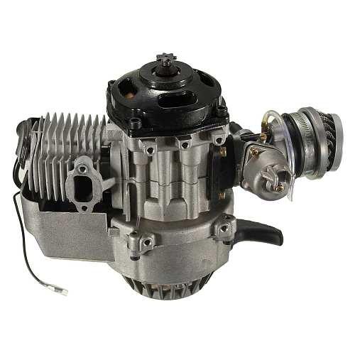 2 Stroke Pull Start Engine Motor Transmission Engine  Air Filter Mini Pocket Pit Quad Dirt Bike ATV 4 Wheel