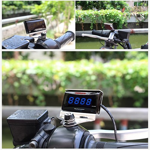 Digital Tachometer Koso Mini Square Display Gauge For Yamaha NVX NMAX XMAX 300 400 cafe racer dio motorcycle counter RPM Meter