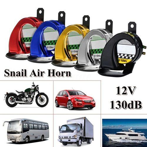 12V Air Horn Car Speeker Universal Car Motorcycle Train Truck Boat 130DB Waterproof Metal Electric Loud Snail Air Horn Siren
