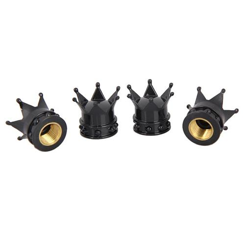 4Pcs/set Universal Crown Style Car Tire Air Valve Stem Cap Automobiles Wheel Tyre Stem Air Valve Dust Covers Auto Accessories