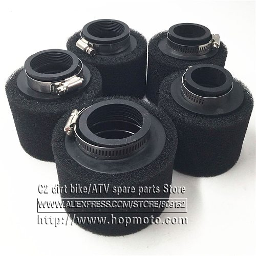 Black and Red Straight Neck Foam Air Filter 35mm 38mm 42mm 45mm 48mm 58mm Sponge Cleaner Moped Scooter Dirt Pit Bike Motorcycle