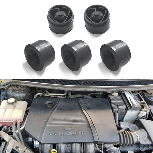 5Pcs Car Front Engine Protective Cover Rubber Cushion Engine Under Plate Pad 6XDB
