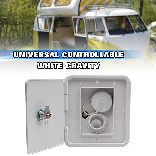 Gravity Fresh Water Fill Hatch Inlet RV Parts Filler Neck For Water Tanks Caravan Plastic Camper Trailer With 2 Keys Motorhomes