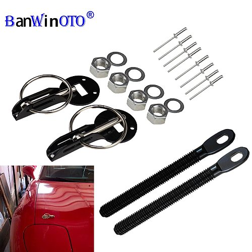 Universal Cars Accessaries Aluminum Alloy Mount Hood Pin Bonnet Lock Kit Car Styling Tunning Lock Kit Down Hood Lock Latch Pins