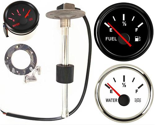 52mm Fuel Gauges 0-190ohm Cars Water Level Sensors 240-33ohm Truck Fuel Level Sensors 200 250 300 350 450mm 9-32vdc Sending Unit