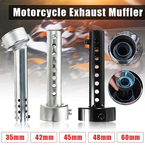 Motorcycle Can DB Killer Silencer Noise Sound Eliminator Exhaust Adjustable Muffler Silencer 35mm/42mm/45mm/48mm/60mm