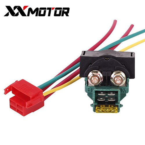 Motorcycle electrical parts Igniter key switch starter solenoid Relay with Plug for HONDA Steed 400 600 VT250 MC19 CBR250