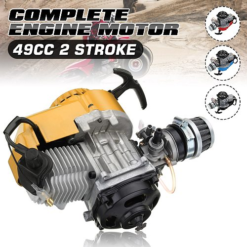 49cc 2 Stroke Mototcycle Complete Engine Motor With Air Filter Carburetor Bike Mini Dirt ATV Quad