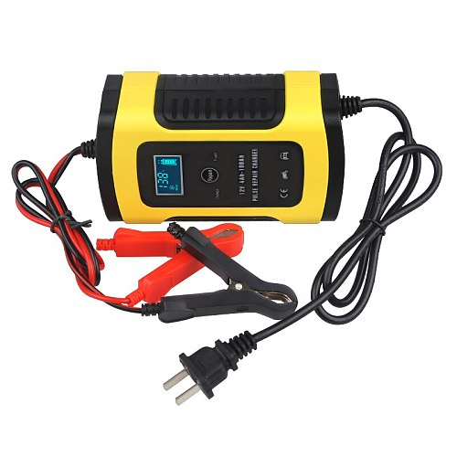 For Lead Acid Battery Repair Charger Car Motorcycle 6A 12v Smart Car Power Charger Battery Intelligent Charging 110V 220V