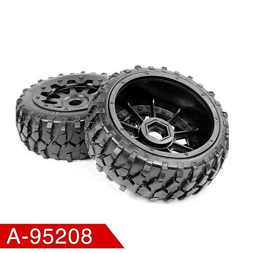 pcmos Rovan 1/5 Buggy All-Terrain Tires Rear Gravel Wheels on 6-spoke Rims Fits HPI Baja 5B King Motor RC Car 1:5 Wheels Tires