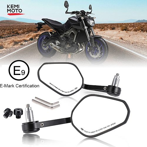 Motorcycle Handlebar Mirror Rearview Motorcycle Bar End Mirror For Honda cb500x pcx msx 125 shadow r1200gs For Yamaha MT09 07