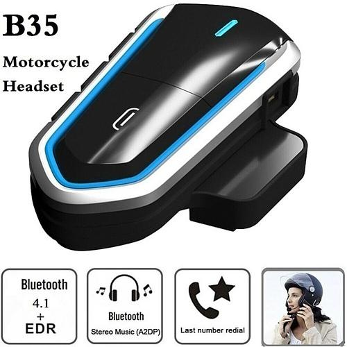 B35 Motorcycle Helmet Intercom Wireless Helmet Bluetooth Headset Waterproof BT Interphone Intercomunicador FM