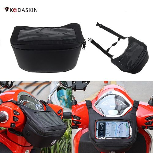 Motorcycle Handlebar Bag Fuel Tank Bag Windscreen Bag Mobile Phone Touch Screen Earphone Bag for vespa gts300 tmax 560 530 xmax