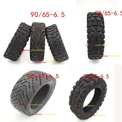 High quality 11 inch tubeless tyre Electric scooter refitted 11-inch 90/65-6.5 thick tire outer tire vacuum Road tire