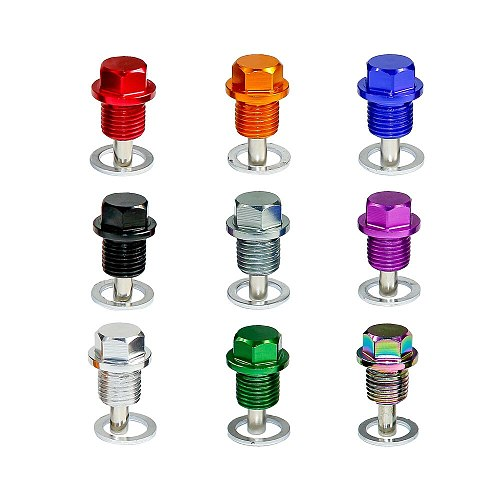 CNSPEED M14*1.5MM Engine Dress Up Magnetic Oil Drain Plug Package/Oil Sump drain plug for Most Honda Acura/Mitsubishi/Ford