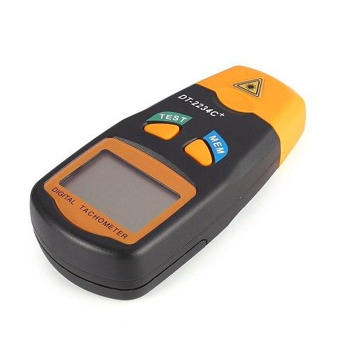 New DT2234C+ Handheld LCD Digital Mini Non-contact Laser Photo Tachometer RPM Speed Measurement Meter Speedometer 2.5~99999RPM