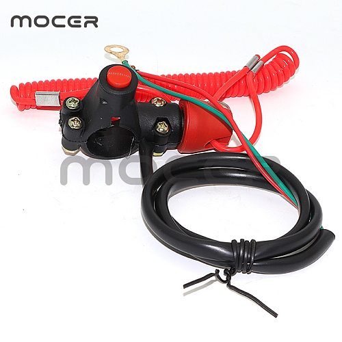 Tether Lanyard Emergency Kill Stop Engine Switch Push Button for ATV Motorcycle Boat Interruptor de parada l motor  matar