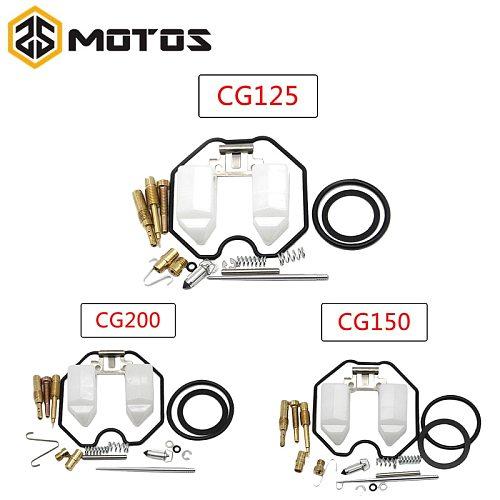 ZS MOTOS Motorcycle Keihin PWK Carburetor PZ26 PZ27 PZ30 repair kits CG125 CG150 CG200 Carb For HONDA CG Motorcycle Repair Kit