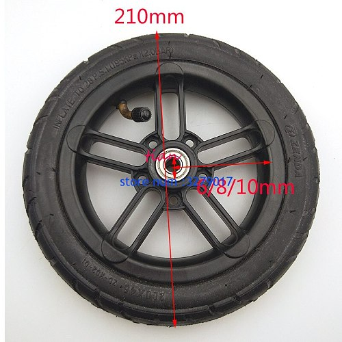 6mm 8mm 10mm inner hole Good quality wheel 200x45 wheel 8 inch Castor Wheel with Tyre & Tube motorcycle parts electric scooter