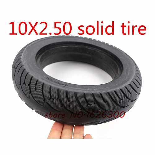 High Quality 10x2.50 Tubeless Wheel Tyre Solid Tyre Non-Inflation Electric Scooter Tire for 8/10 Inch Electric Scooter Accessory