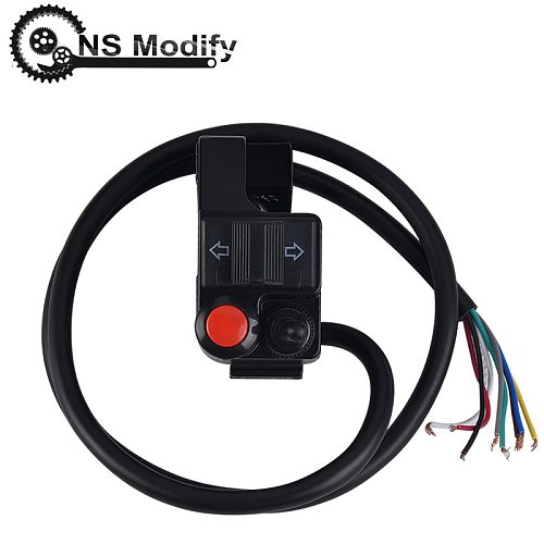 NS Modify 7/8  Universal Motorcycle Handlebar Left Headlight Turn Signal Horn Switch Handlebar Mount Push Button Motorcycle Part