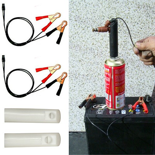4pcs Fuel Injector cleaner Nozzle shape Car Flush Adapter Tools Set Nozzle Kit Accessories Equipment