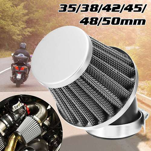 New Motorcycle Air Filter 35mm 38mm 42mm 48mm 50mm Universal Fit For 50cc 110cc 125cc 140cc Motorcycle ATV Scooter Pit Dirt Bike
