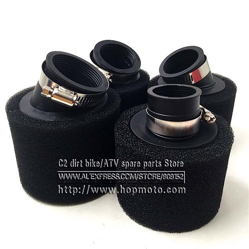 Black 35mm 38mm 42mm 45mm 48mm Bend Elbow Neck Foam Air Filter Sponge Cleaner Moped Scooter Dirt Pit Bike Motorcycle Kayo BSE