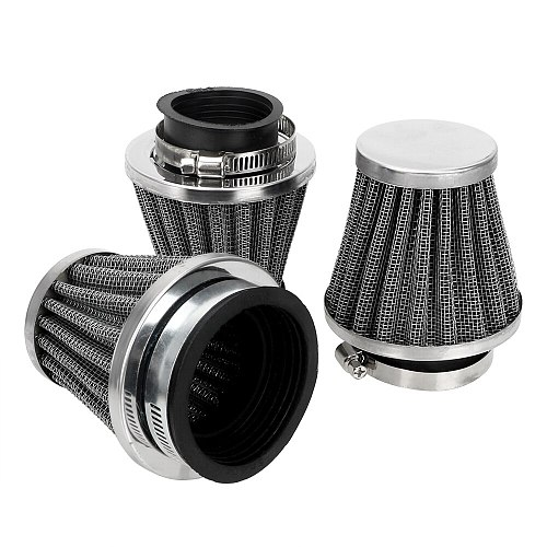 LEEPEE Motorcycle Mushroom Head Air Filter 39/42/50/mm Caliber Size Filters Universal Clamp On Air Filter Cleaner