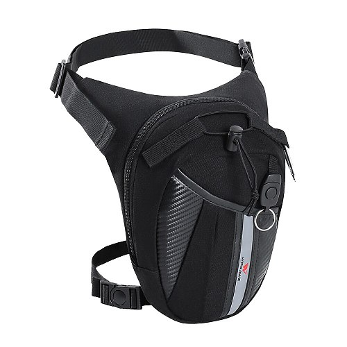 WOSAWE Motorcycle Leg Bag Fanny Pack Racing Waterproof Moto Cycling Tactical Waist Pack Airsoft Tactical Drop Leg Panel Utility