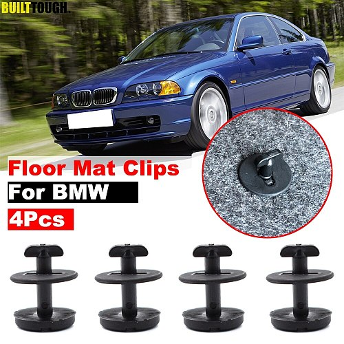 4pcs Car Fastener Floor Mat Clips Twist Lock Carpet Fixing Clamp For BMW E46 E38 E34 E32 E39 3 5 7 Series Resistant Retainer