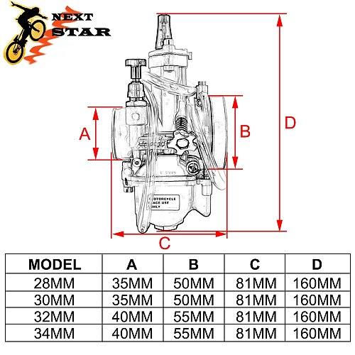 Universal For KOSO PWK 28 30 32 34 2T 4T For Keihin Mikuni Carburetor Carburador With Power Jet For Yamaha Suzuki Honda 75-250cc