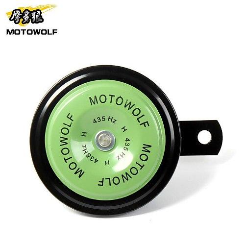 MOTOWOLF New 12V Waterproof Motorbike Racing Horn Smart Control  Loudspeaker Motorcycle Horn