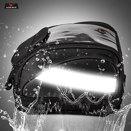 WOSAWE Magnet Motorcycle Fuel Tank Bags Waterproof Helmet Bag Borsa Serbatoio Moto Motocross Travel Luggage with Phone GPS Bag