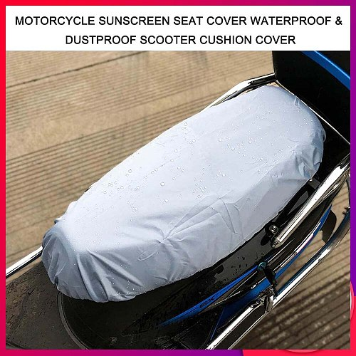 Universal Motorcycle Sunscreen Seat Cover Cap Waterproof & Dustproof Scooter Cushion Cover Seat Scooter Sun Pad Protector
