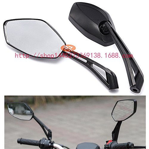 motocross rear view mirrors part black universal 8MM 10MM moto side mirrors for yamaha benelli BJ150T mirror motorcycle rearview
