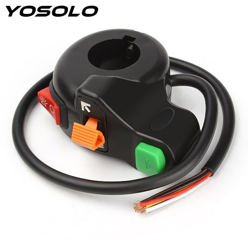 YOSOLO Headlights/Turn Signal Lights/Horn  3 in 1  Universal Auto ON-OFF Switch Motorcycle Scooter Dirt ATV Handlebar Switch