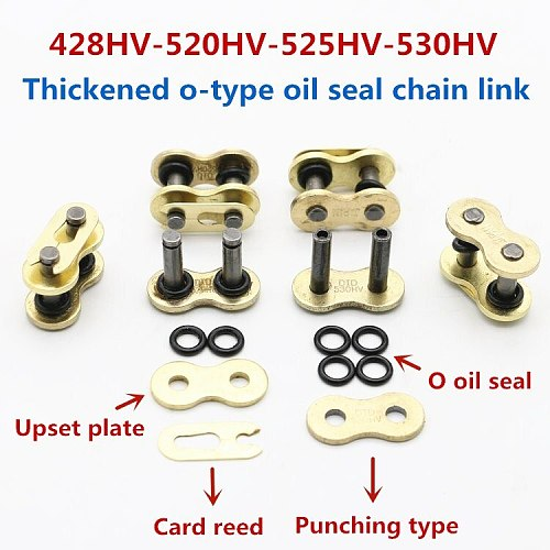 Motorcycle Chain Buckle Ring Link 428 520 525 530 Heavy Chain Connecting Connector Master Joint Link With O-Ring Chain Lock