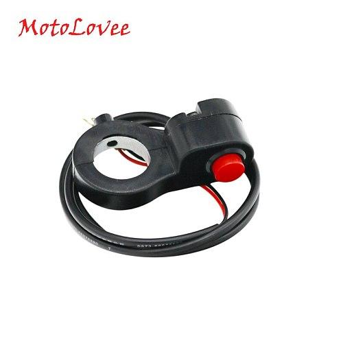 MotoLovee 7/8'' Universal Motorcycle Handlebar Switch Horn Starter Kill Button Switch E-Bike Motor Single Switch