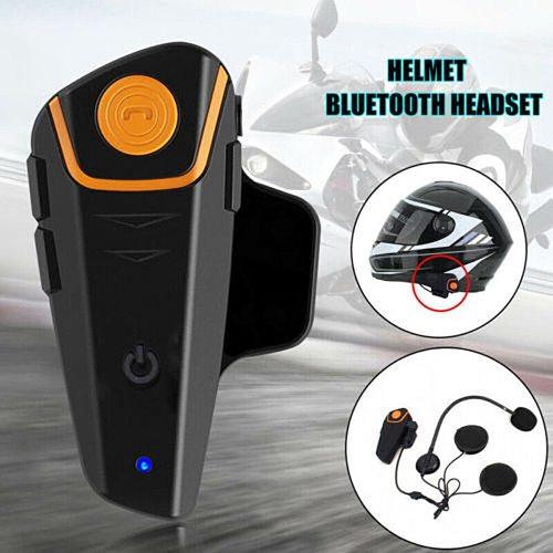 Motorcycle Headsets 50m Stereo Helmet Microphone Headphones Bluetooth V4.1 + EDR Earphones Motorcycle Accessories